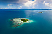 View of the islands of Balgai Bay, New Ireland, Papua New Guinea