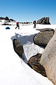 Traverse of the Ramshead Range in Kosciuszko National Park, multi-day ski tour, NSW, Australia