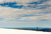 Ski tour in the Alpine National Park near Mt. Loch, Victoria, Australia