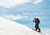 Ascent to the Ramshead Range in Kosciuszko National Park, multi-day ski tour, NSW, Australia
