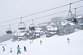 The ski village Mt. Hotham in Victoria, Australia
