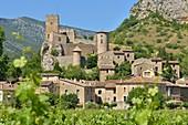 Frankreich, Herault, Dorf und Schloss Saint Jean de Bueges