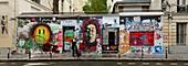 France, Paris (75) rue de Verneuil, fresques sur la façade de la maison de Serge Gainsbourg