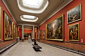 France, Herault, Montpellier, historical center, Fabre Museum, 18th century, the Columns Room