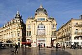 France, Herault, Montpellier, historical center, the Ecusson, Place de la Comedie (Comedy Square)