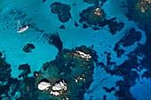 France, Corse du Sud, Bonifacio, Lavezzi Islands Nature Reserve (aerial view)