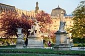 France, Paris, area listed as World Heritage by UNESCO, One evening in the Tuileries gardens
