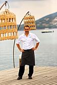 France, Corse du Sud, Porto Vecchio, Hotel Cala Rossa, chef Pascal Cayeux