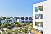 France, Haute Garonne, Toulouse, Balma, Vidailhan eco-district, eco-neighborhood, housing building