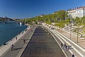 Frankreich, Rhone, Lyon, Rhone Ufer