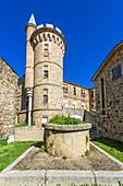 France, Loire, Pilat Regional Nature Park, Pelussin, Saint-Jean Baptiste church, Virieu old castle