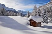 France, Haute-Savoie (74), Tré le Champ chalet (1400m), Mont-Blanc range