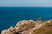 France, Finistère, Crozon, hiking to the peak Dinan