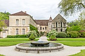 France, Cote d'Or, Marmagne, Fontenay Abbey, listed as World Heritage by UNESCO, convent buildings and garden