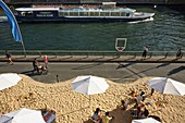 France, Paris, area listed as World Heritage by UNESCO, right bank of the Seine, Paris Beaches