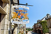 France, Morbihan, Rochefort en Terre, labelled Les Plus Beaux Villages de France (The Most Beautiful Villages of France), B & B La Tour Du Lion
