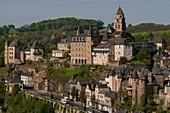 France, Correze, upper town of Uzerche, Abbey Saint Pierre
