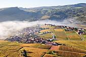 Frankreich, Saone et Loire, Dorf Vergisson