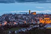 France, Aveyron, Rodez by night