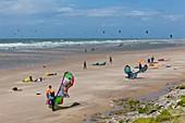 France, Pas de Calais, Wissant, kitesurfing and windsurfing