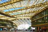 France, Paris, the Forum des Halles Canopy made of glass and metal, designed by Patrick Berger and Jacques Anziutti and inaugurated April 5, 2016