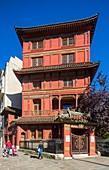 France, Paris, a Chinese pagoda, the Loo house built in 1926, is now a private museum and exhibition halls.