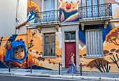 France, Isere, Grenoble, Grenoble Street Art Fest, dozens of artists express themselves in the streets of the city, work of the artist Animalitoland, Genissieu street