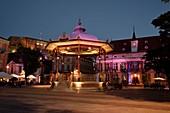 France, Territoire de Belfort, Belfort, Place d Armes a summer evening, city hall, kiosk, castle