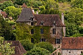 France, Lot, Dordogne Valley, Autoire village listed as Plus Beaux Villages de France (Most Beautiful Villages of France)