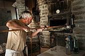 France, Savoie, Bauges valley, Jarsy, Didier Oudart, organic baker