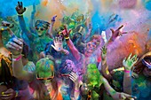 France, Gard, Beaucaire, Holi Party