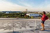 France, Paris, the Parc de la Villette, La Philarmonie de Paris by architect Jean Nouvel, Roof Terrasse open to the public