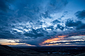 Overcast sky at sunset