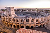 France, Bouches du Rhone, Arles, the Arenas, Roman Amphitheatre of 80-90 AD, listed as World Heritage by UNESCO