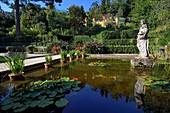 France, Alpes Maritimes, Menton, the garden Serre de la Madone and the villa of Major Lawrence Johnston