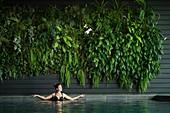 France, Morbihan, La Gacilly, hotel the Gree des Landes , the swimming pool AUTORISATION NECESSAIRE AVANT PUBLICATION