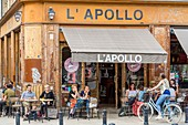France, Gironde, Bordeaux, area listed as World Heritage by UNESCO, Fernand Lafargue square, L'Apollo bar founded in 1997