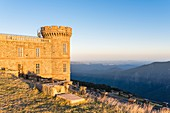 France, Gard, the Causses and the Cevennes, Mediterranean agro-pastoral Cultural Landscape listed as a UNESCO World Heritage site, Cevennes national park, Mount Aigoual in the south of Central Massif between Gard and Lozere (alt : 1565 m), meteorological observatory