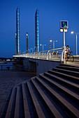 France, Gironde, Bordeaux, area classified as World Heritage, Chaban-Delmas bridge