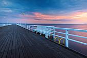 Jurata Pier on the Baltic Sea, Hel Peninsula, Pomerania, Poland