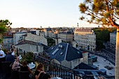 France, Gironde, Bordeaux, area listed as World Heritage by UNESCO, Grand Hôtel, roof top bar le Beach Club
