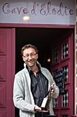 Frankreich, Ille-et-Vilaine, Bécherel, bezeichnet als 'Kleine Stadt mit Charakter' und als 'Bücherstadt', Elodies Keller