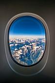 France, Haute-Savoie, Alps (aerial view)