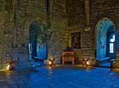 France, Aude, Puivert, Puivert castle, dungeon room