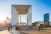 France, Hauts de Seine, La Defense, the Grande Arche by the architect Otto von Spreckelsen