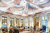 France, Paris, Rue de Rivoli, luxury hotel Le Meurice founded by Augustin Meurice in 1838 and frequented by Jean Cocteau, Queen Victoria, Ernest Hemingway, Pablo Picasso, Andy Warhol ..., Le Dali restaurant decorated by Philippe Starck