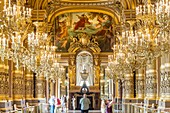 France, Paris, Opera Garnier (1875) designed by the architect Charles Garnier in an eclectic style,