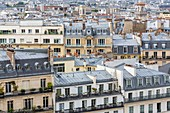 France, Paris, view of the Pantheon on the 5th arrondissement and more particularly the Sorbonne and Val de Grace districts