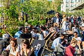 France, Paris, Ground Control Paris, the famous free and curious ephemeral bar edition 2017 opened its doors on 18/05/2017 in a former SCNF warehouse, 81 rue du Charolais 75012