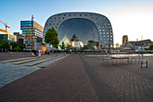 The indoor market in the evening light without lighting due to the Covid-19 restrictions, Rotterdam, The Netherlands, June 2020
